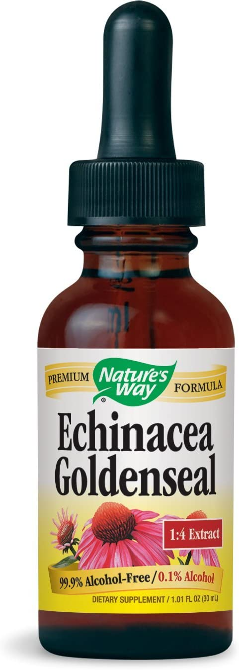 Nature s Way Echinacea and Goldenseal Glycerite, 1 Ounce Pack of 2