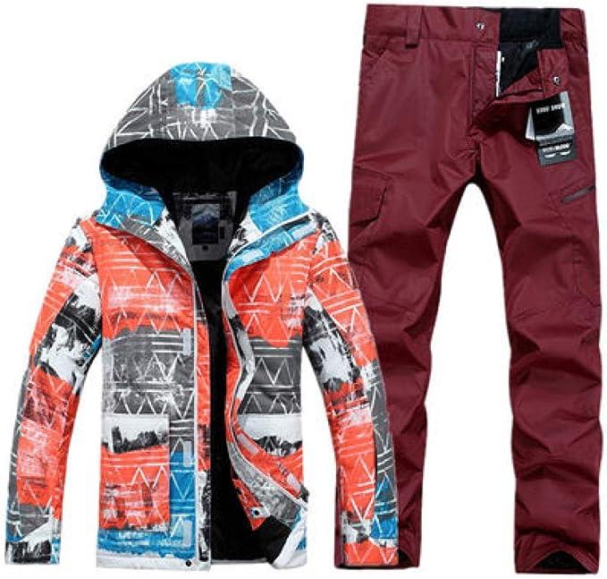 Amazon.com: Phlpsee - Traje de esquí impermeable y ...