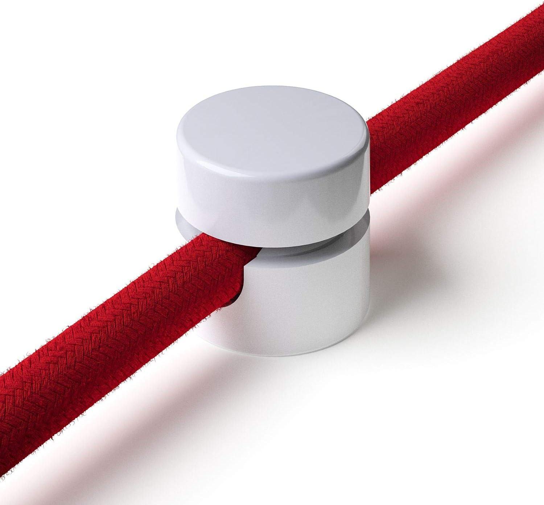 10x Stück Zweiteilige Affenschaukel Für Textilkabel Aufputz Kabelhalter Für Lampe Weiß Baumarkt