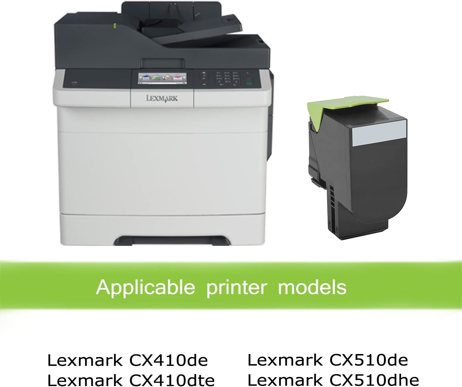 CX510 CX410e CX410dte Black, 3-Pack Awesometoner/Remanufactured/Made in USA High Yield Toner/Cartridge/Replacement/for/Lexmark 80C1HK0 80C0H10 80C0HKG 800H1 800HKG 801HK use/with/CX-410