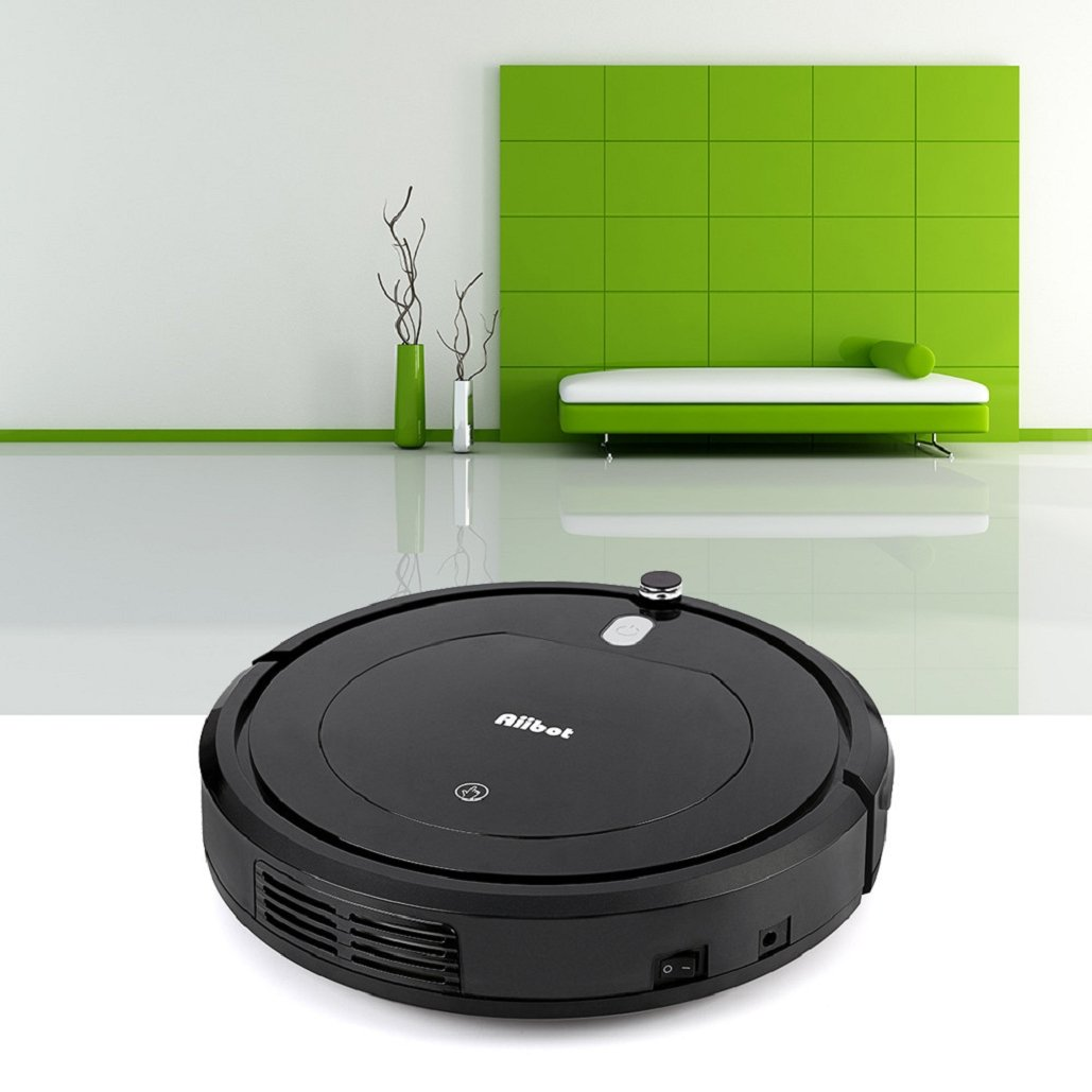 High Suction Smart Robotic Vacuum Cleaner with Drop-Sensing Technology&Automatic Induction,3 Cleaning Modes,With 200ML Dust Box,Designed for Hard Floor and Thin Carpet,Tuscom (Black)