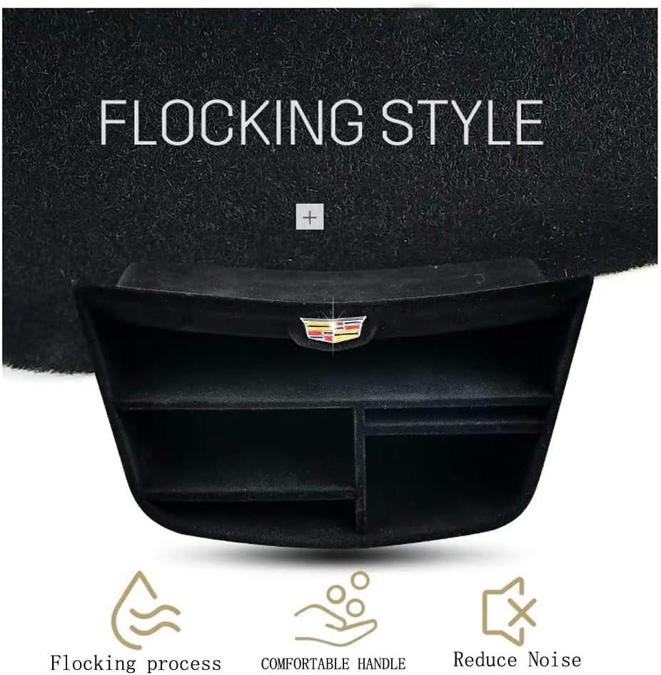 DEFTEN Center Console Armrest Secondary Box Console Flocking StorageTray for Cadillac XT5 2017 2018 2019(Flocking Style Eliminate Object Collision Noise)