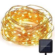Kohree Solar Lichterkette/Außenlichterketter mit 120 LED, Beleuchtung für Outdoor, Garten, Haus Weihnachtsfest, Hochzeit