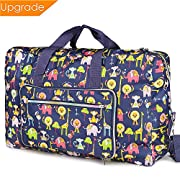 Fordicher Women Nylon Foldable Large Travel Duffel Bag Travel Tote Luggage Bag for Vacation (Animal)