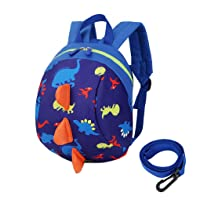 Toddler's Mini Dinosaur Backpack Zipper Toy Snack Daypack Shoulder Bag Age 1-4