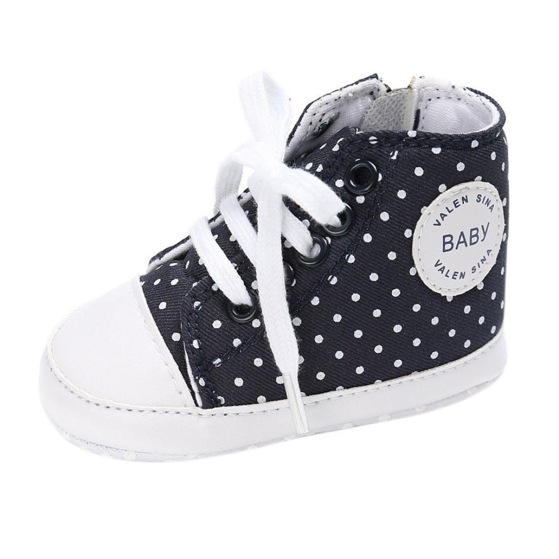 Pour 0-18 mois chaussures de bébé, Amlaiworld Berceau de Fille de GarçonToile Sneakers Chaussure semelle molle (1/0-6m, Rose) Amlaiworld Bébé Chaussures