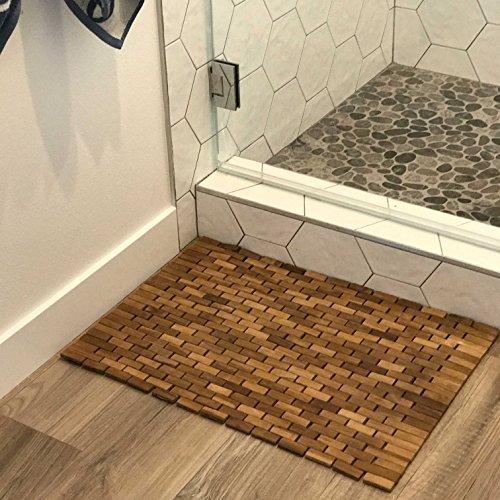 Hip-o Modern Living Teak Indoor Outdoor Bath and Shower Mat by Hip-o Modern Living (Image #3)