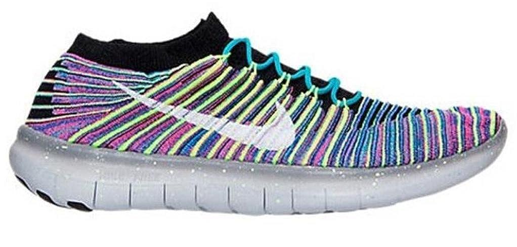 Noir blanc-racer bleu Nike Free RN Motion Flyknit, Chaussures de Running Entrainement Homme 45 EU