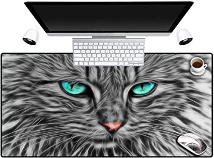 Erjiasan Imprimir Ojos azules Gato Animal Alfombrilla de ...