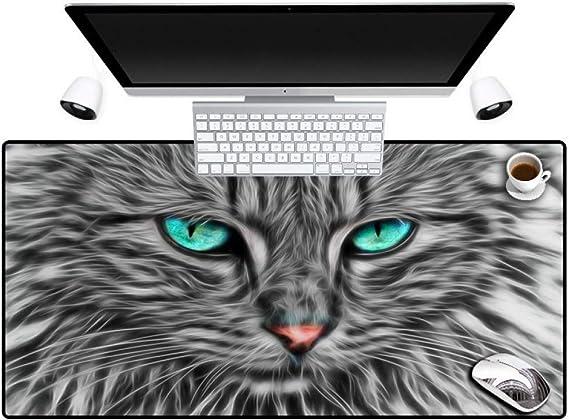Erjiasan Imprimir Ojos azules Gato Animal Alfombrilla de ratón ...