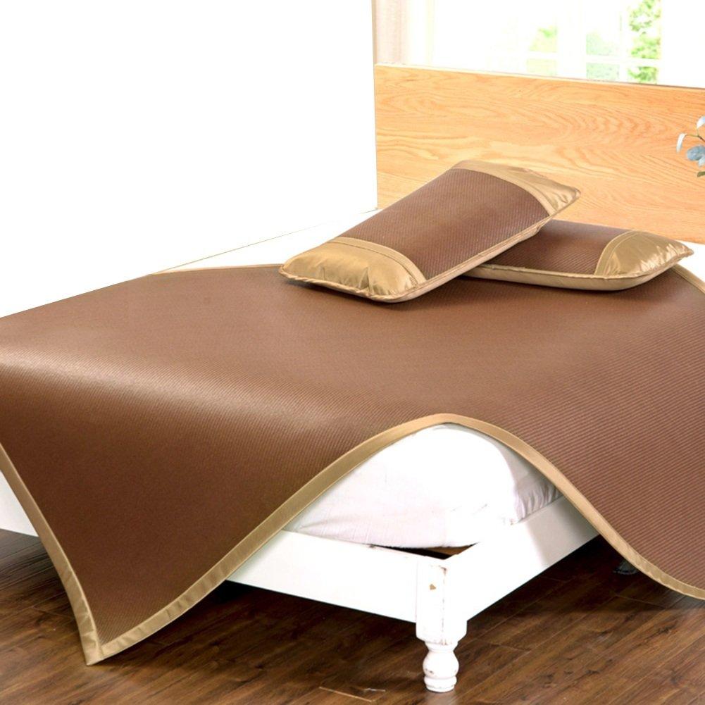 1.2 × 1.95m Matelas de couchage d'été Matelas frais, tapis de paille de couchage d'été tapis de couchage lit pliable pliable en rougein siège agréable pour la peau maison multifonction, 5 tailles