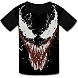 Ve-nom Kids Tee Short Sleeve Round Neck Boys Girls 100/% Cotton T-Shirt