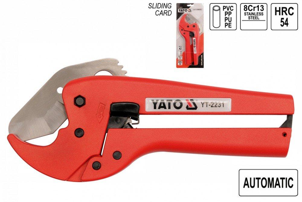 Yato 2231 - PVC de 42 mm, coupe-tube YT-2231