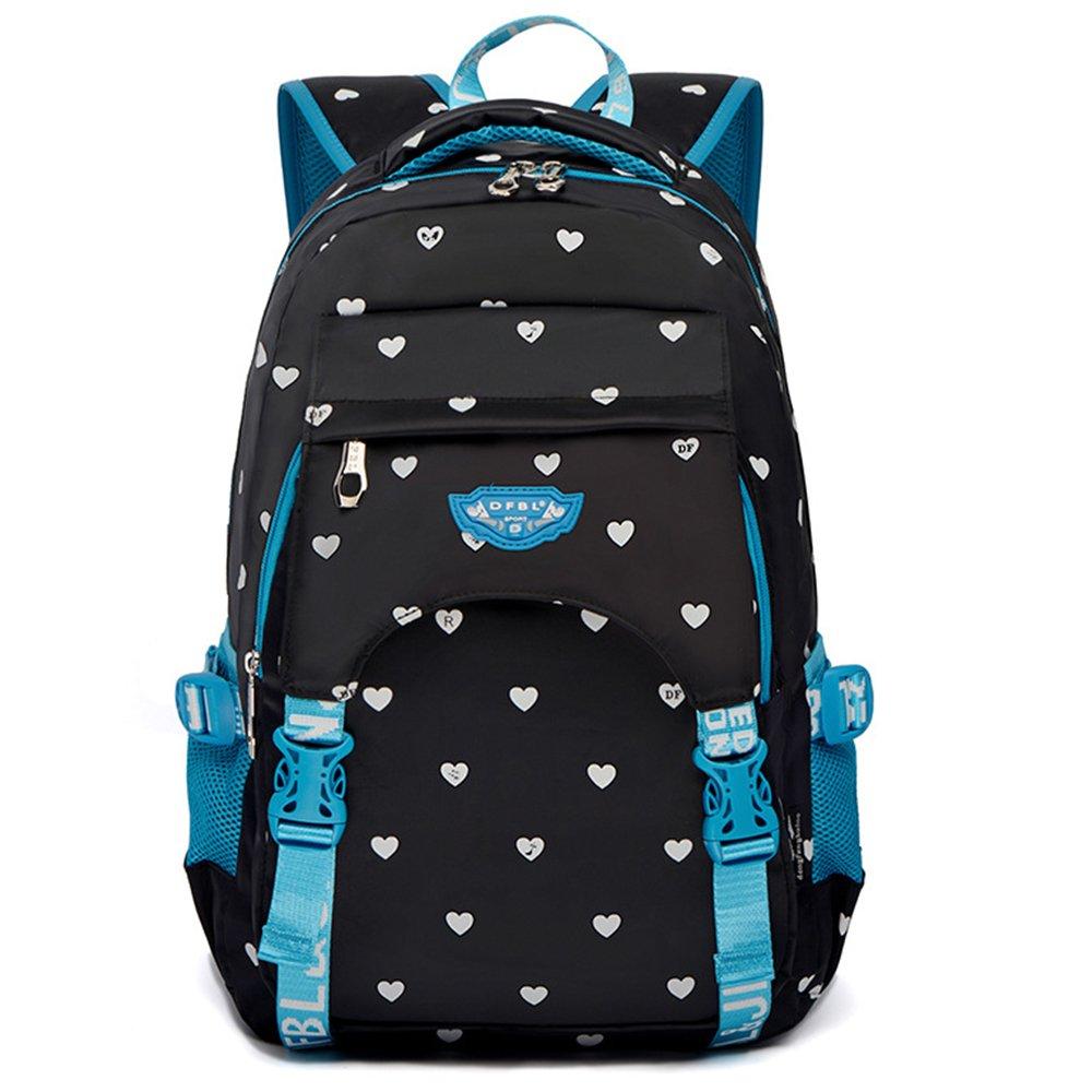 Junior 15.6  Laptop Rucksack Durable Schulbeutel Bookbag College Shoulds Bag Travel Deluxe Wasserdicht Business Casual Daypacks Rucksack für Männer und Frauen (Schwarz2)