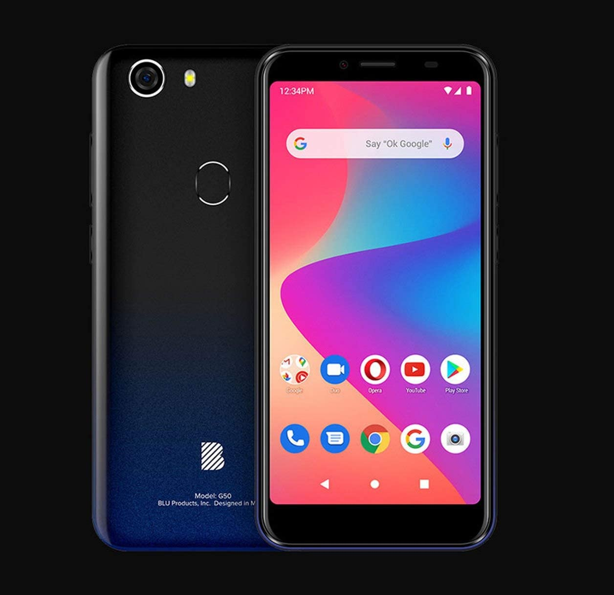 BLU G50 G0330WW 32GB GSM Unlocked Android Smart Phone - Black