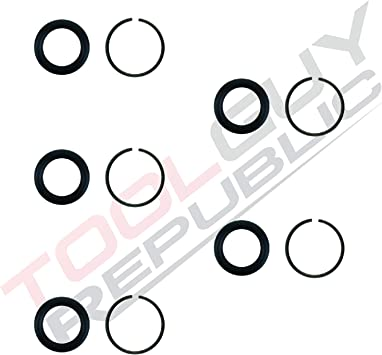 "10 Sets. 1//2/"" Impact Wrench Socket Retainer Retaining Ring with O-Ring Mac IR"