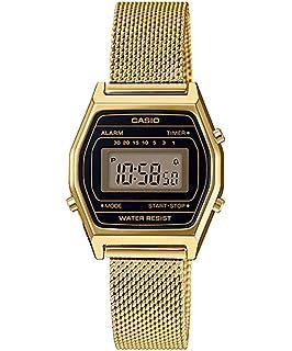 Casio LA690WEMY-1 Womens Vintage Youth Gold Tone Mesh Band Alarm Chronograph Digital Watch