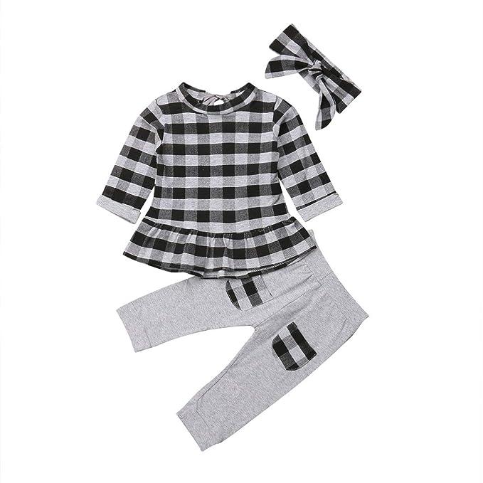 Amazon.com: Conjunto de 3 pantalones para bebé, color negro ...