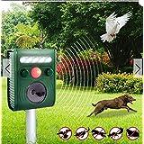 KCASA KC-JK369 Garden Ultrasonic PIR Sensor Solar Animal Repeller Strong Flash Light Bird Repel