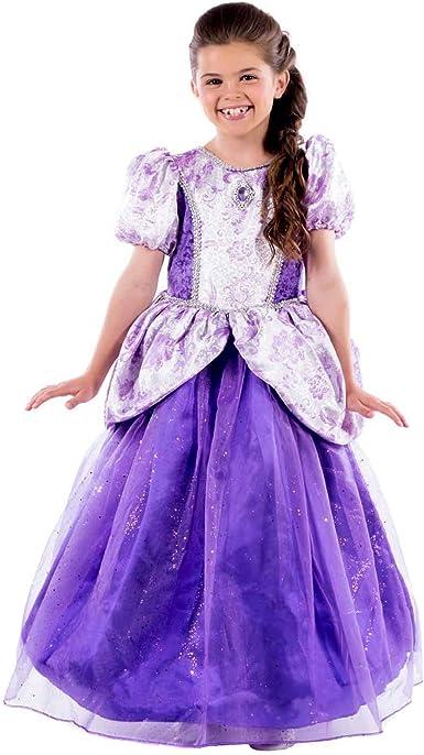 Filles Royal Queen Sleeping Beauty Fairytale Princess Costume Fancy Dress New 4-6