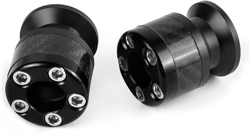 Black Motorcycle 10MM Aluminum Carbon Fiber Swingarm Sliders For Kawasaki Ninja 250 Z 250 ER6 ER6F