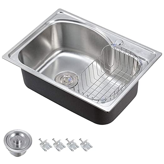 ADWN Fregadero de agua de acero inoxidable Lavabo individual ...