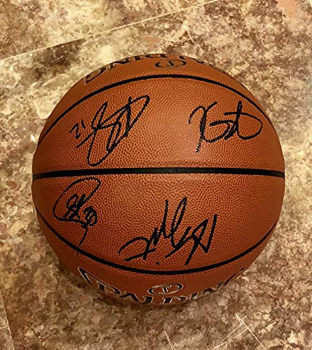 Kevin Durant Autographed Basketball - 2019 GOLDEN STATE WARRIORS Team AUTOGRAPHED Signed F.S. NBA Basketball Kevin Durant Stephen Curry Draymond Green