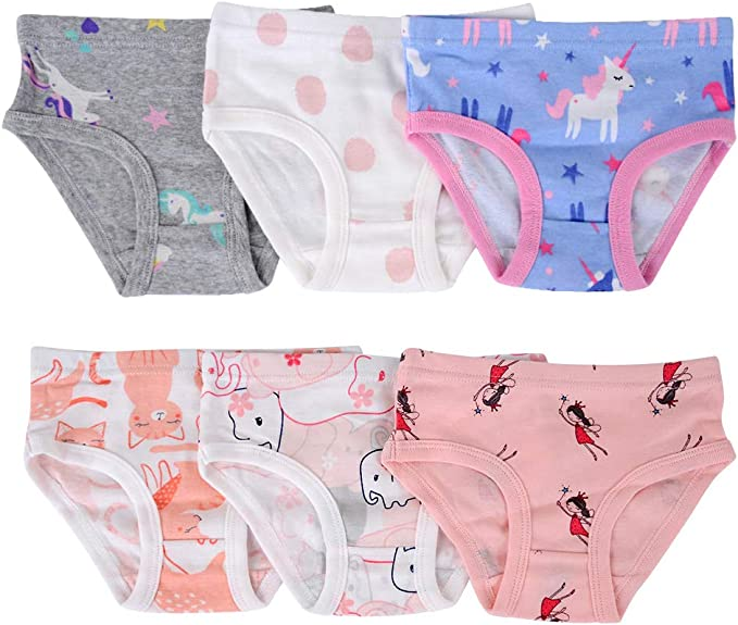 Closecret Toddler Soft Cotton Underwear Baby Panties Girls 12-Pack Assorted Briefs