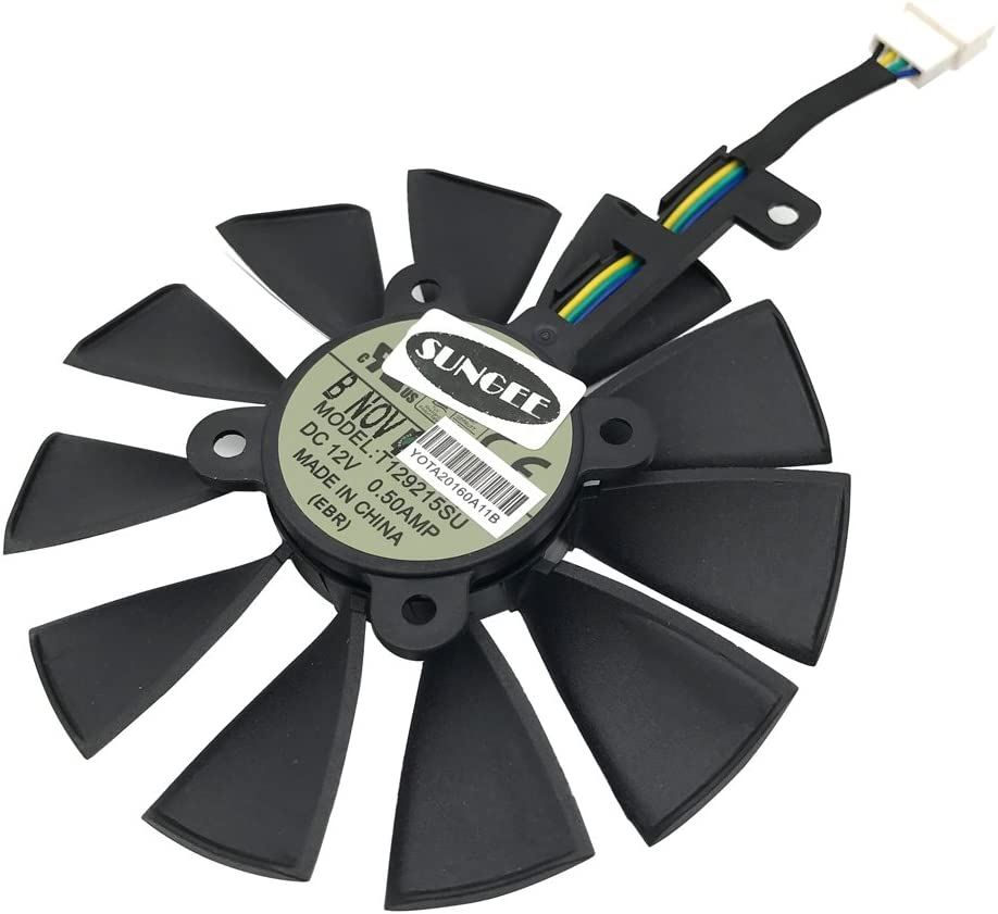 88MM T129215SU 6-Pin DC 12V 0.50A Cooling Fan For ASUS STRIX Raptor GTX980Ti/R9 390X/R9 390 Graphics Card Cooler Cooling Fans (FAN-C (1Pcs))