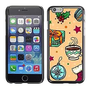 FECELL CITY // Duro Aluminio Pegatina PC Caso decorativo Funda Carcasa de Protección para Apple Iphone 6 // Gift Merry Winter Kids