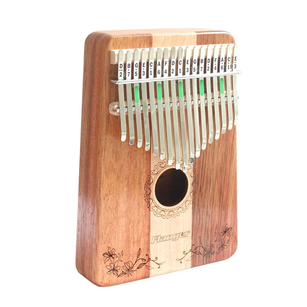 Classic Thumb Piano 17 Keys Thumb Piano Mahogany Wood Kalimba African Mbira Sanza Standard C Tune Finger Piano Metal Tines with Carry Bag Kids Musical Instrument Gifts for Kids Adult