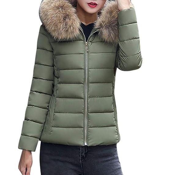 b783251cd871 TUDUZ Women Short Coat New Quilted Winter Warm Parka Outerwear Puffer Faux  Fur Collar Hooded Coat Jacket  Amazon.co.uk  Clothing