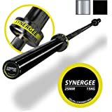 iheartsynergee S-2 Olympic 20kg Men's and 15kg Women's Hard Chrome & Black Phosphate Barbells. Rated 1500lbs for Weightlifting, Powerlifting and CrossFit