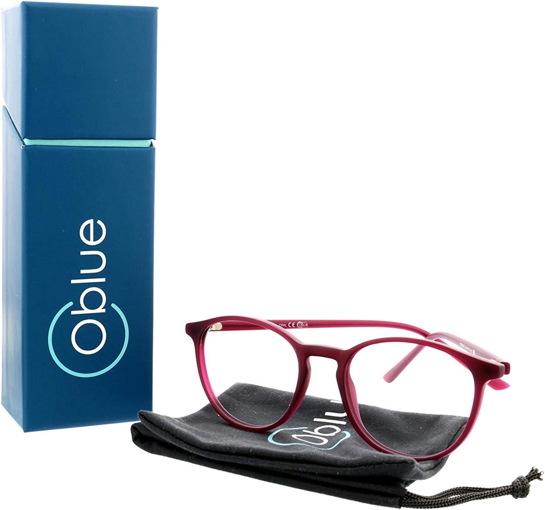 petits cadres ronds en m/étal OQ CLUB Lunettes de blocage de la lumi/ère bleue pour femmes bloqueurs bleus verres filtrants bleus
