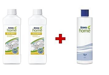 Amway - Líquido lavavajillas concentrado Dish Drops (2 botellas de 1 litro) + botella de disolvente graduada: Amazon.es: Hogar