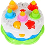 DaycMy Kids Birthday Cake Toy With Counting Candles Music Happy Gift Toys