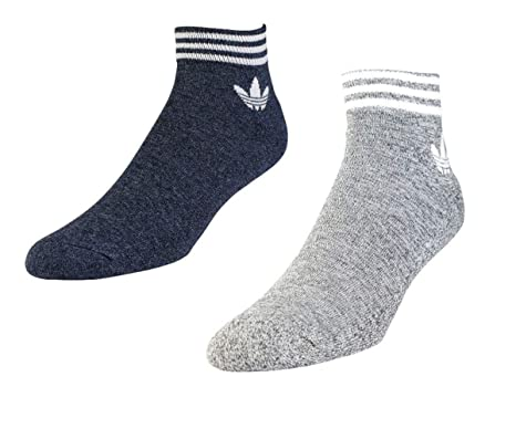 315f95b78988d Adidas Originals Socks 2 Pairs Ankle Melange BS0915 Mens Navy & Grey ...