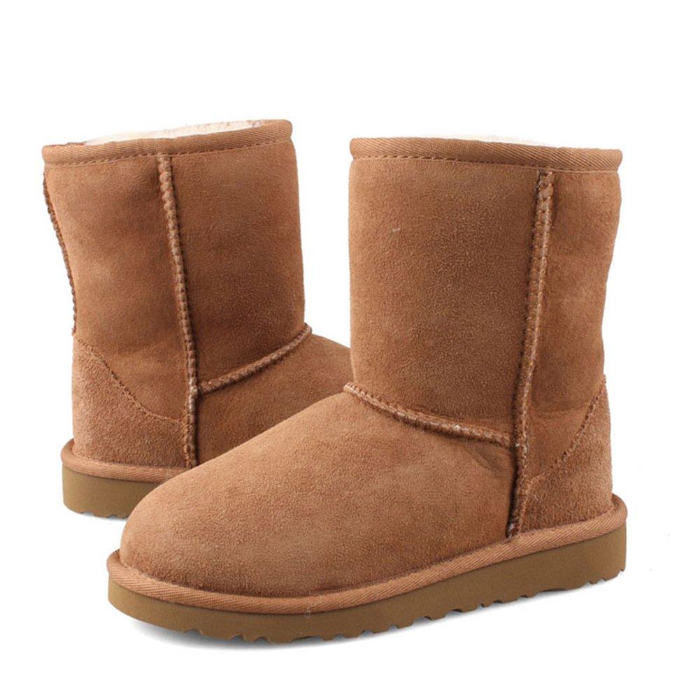 VOCOSI Damen Schneeschuhe Stiefel 2018 Winter Leder Schuhe Non-Slip Non-Slip Non-Slip Warmer Pelz SAMT Stiefel d9f0bc