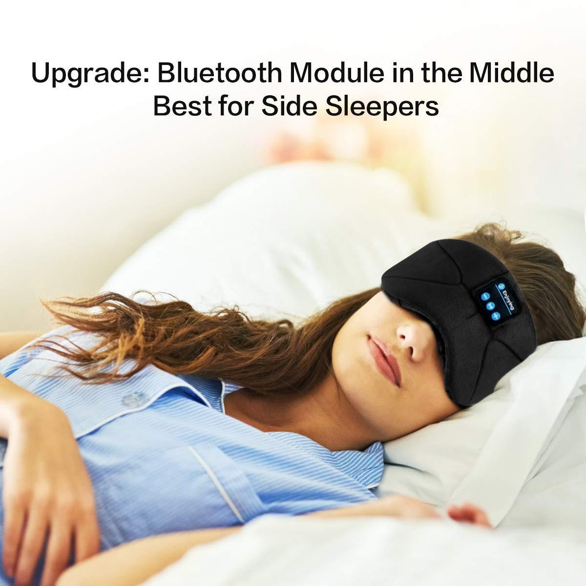 Masque de Sommeil Bluetooth, Casque Bluetooth Masque de Nuit,Masque de Yeux Respirant Ultra-Douce pour Voyage