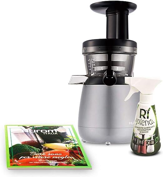 Extractor de zumo Hurom HP gris + libro de recetas + limpiador ...