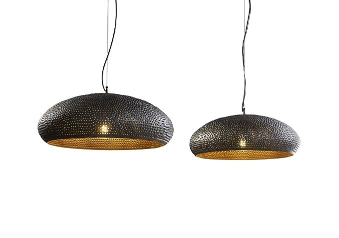 Lampada a sospensione vintage ovale industrial dots ombrelli