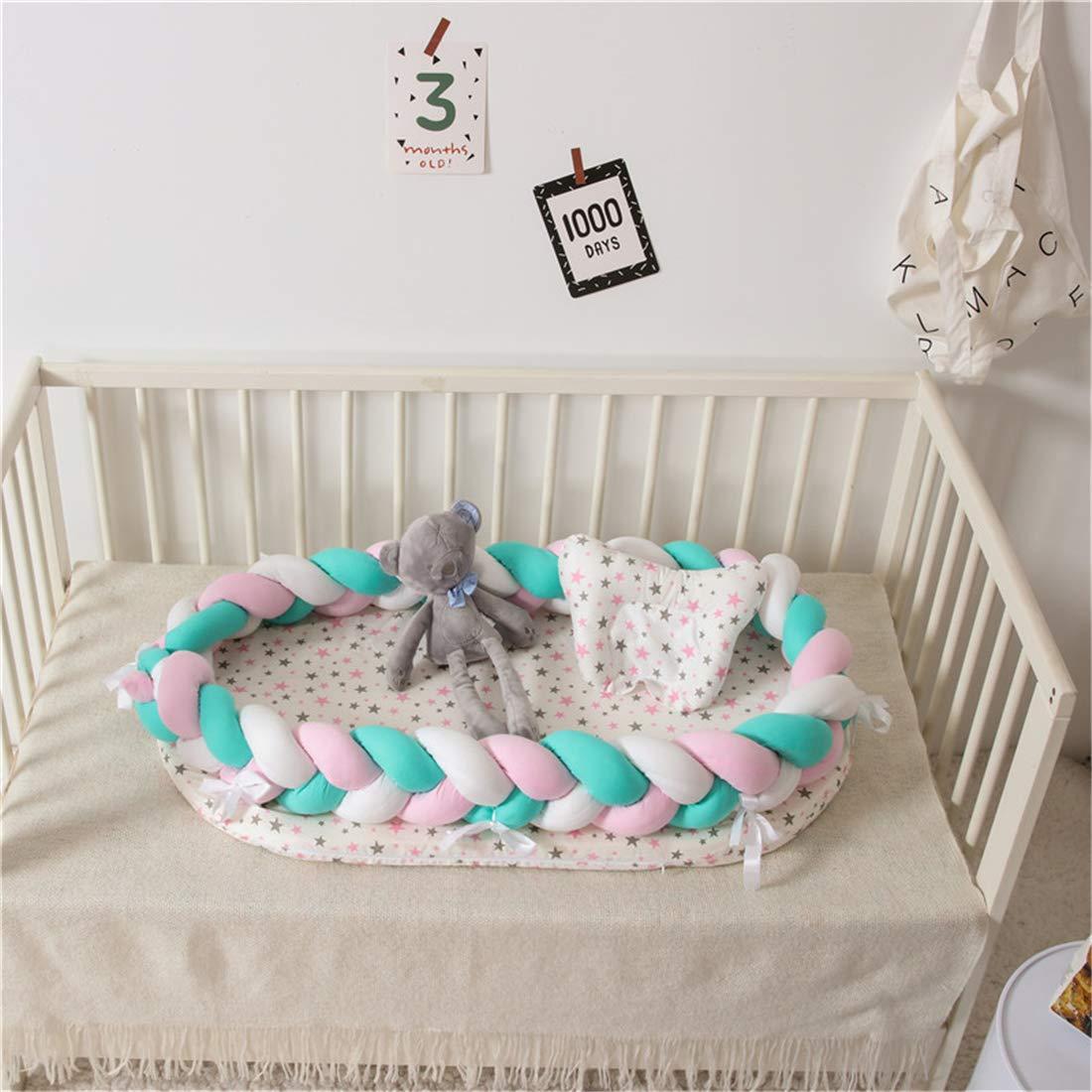 Babynest Kuschelnest Babynestchen 90cm x 50cm x15cm Blau Hayisugar Multifunktionales Babybett Weiches und sicheres Baby-Reisebett Babybett Nestchen f/ür Neugeborene