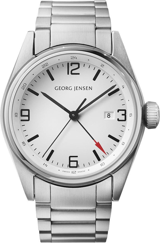 Georg Jensen Herrenuhr der Superlative GMT Nummer 3575596 Delta Classic 43mm *UVP €850 -