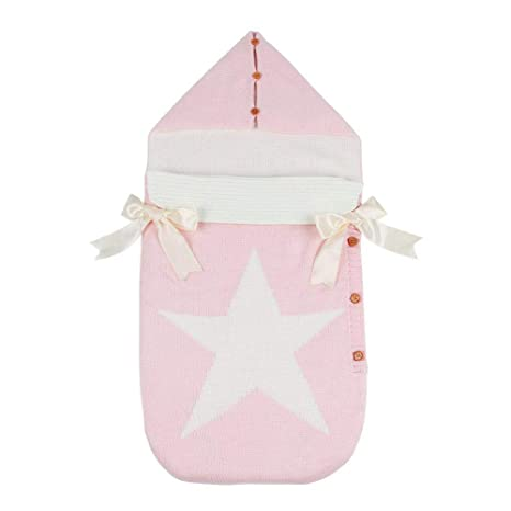 Silveroneuk - Saco de dormir para bebé con capucha, diseño de pentagrama rosa rosa Talla