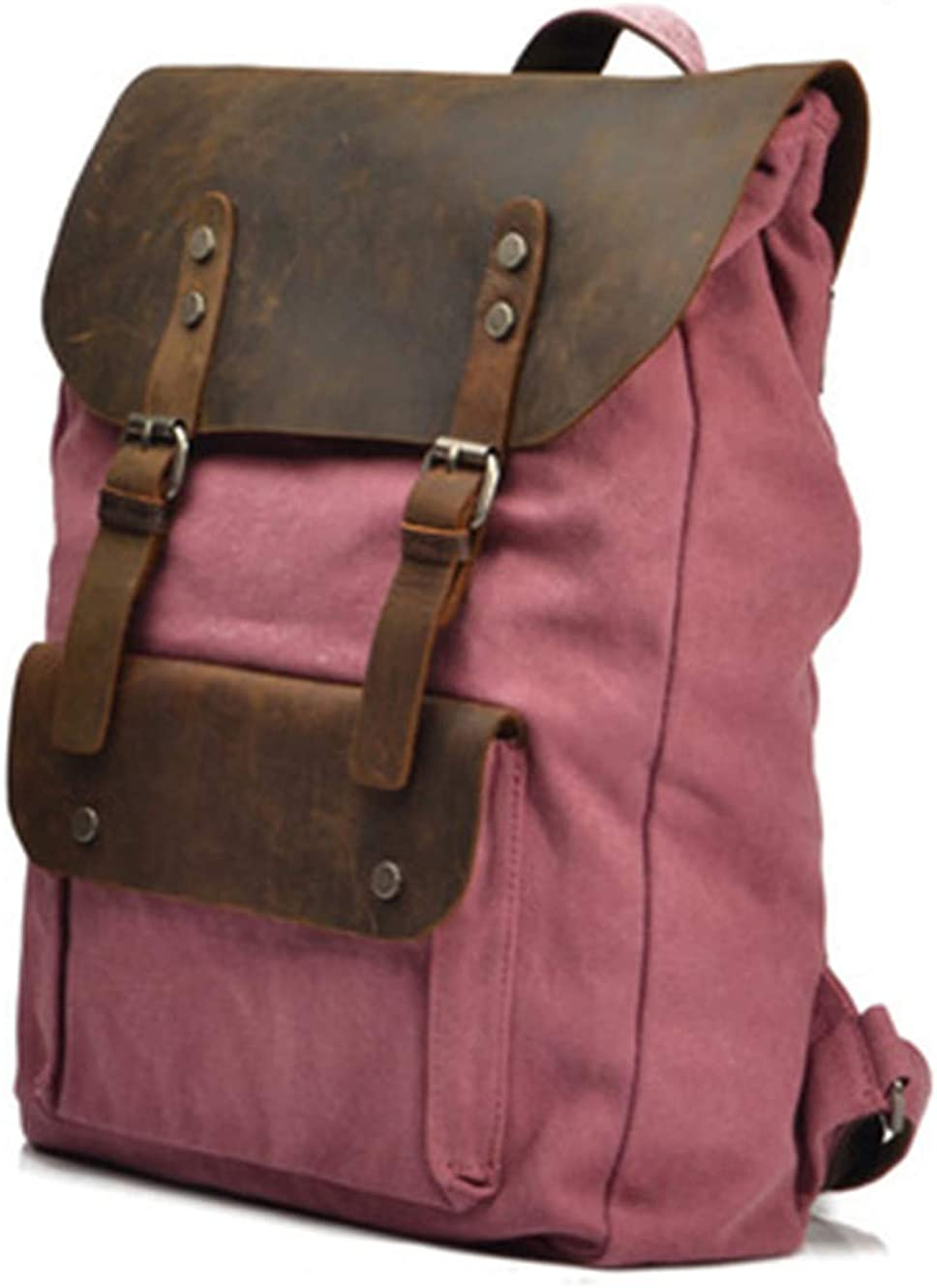Womens simple fashion canvas backpack
