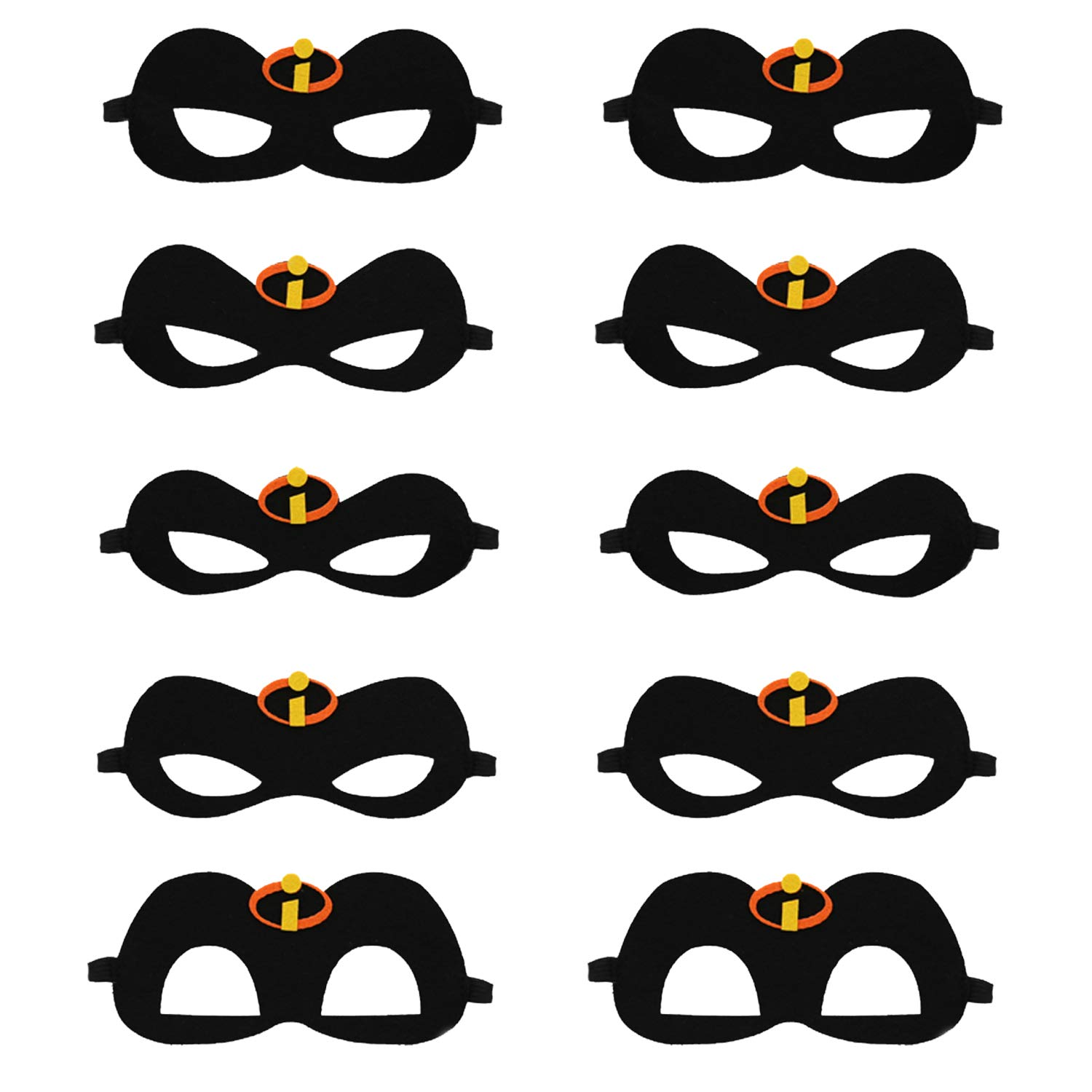 10 PCS The Incredibles 2 Inspired Family Eye Masks Halloween Masks Party Supplies Black by Kitticcino