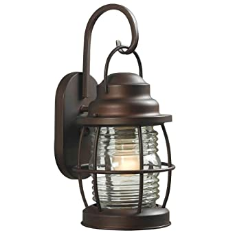 home decorators collection harbor medium outdoor copper wall lantern - Home Decorators Collection Lighting