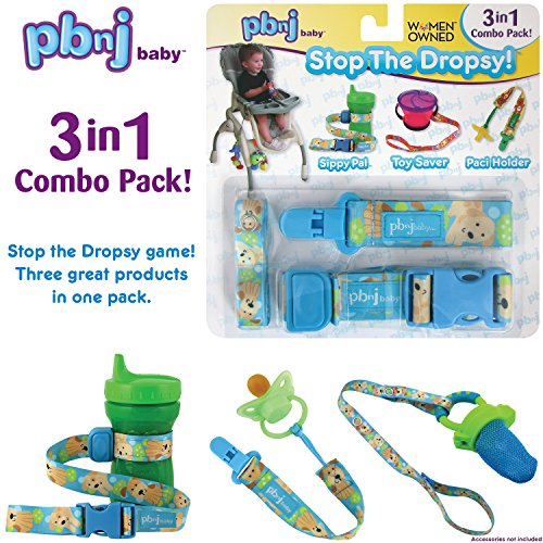 Stop the Dropsy 3-in-1 Combo Pack for sippy cup, pacifier, toys (Puppy)