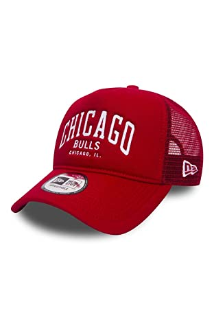 5b6265b0044 New Era NBA Chain Stitch A-Frame Trucker Cap (Chicago Bulls)  Amazon ...