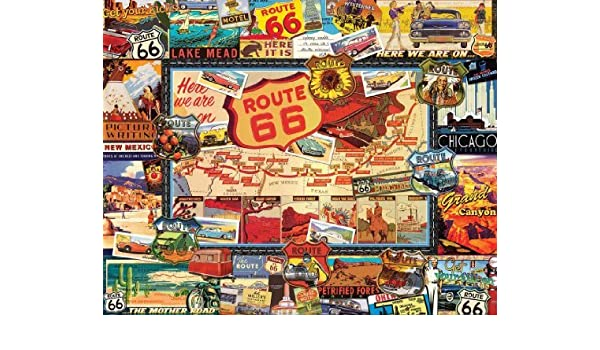White Mountain Puzzles - Puzzle 1000 pièces - Route 66 by White Mountain Puzzles: Amazon.es: Juguetes y juegos